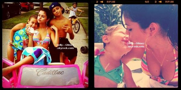Photos d'une journée avec sa famille pendant son jour de repos provenant d'instagram