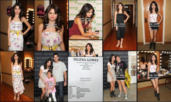 Photos de Selena dans les coulisses de son concert au Bethel Woods Center à New York du 5 aôut