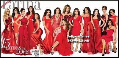 Selena sur la couverture de Latina
