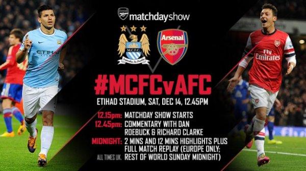 Premier League : 16ème journée : Manchester City - Arsenal FC (14.12.13)