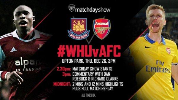 Premier League : 18ème journée : West Ham United - Arsenal (26.12.13)