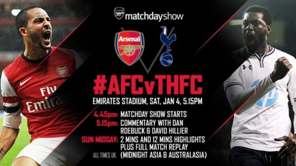 CUP, 3e Tour : Arsenal FC - Tottenham Hotspur (04.01.14)