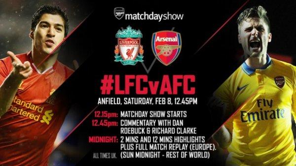 Premier League : 25ème journée : Liverpool FC - Arsenal FC (08.02.14)