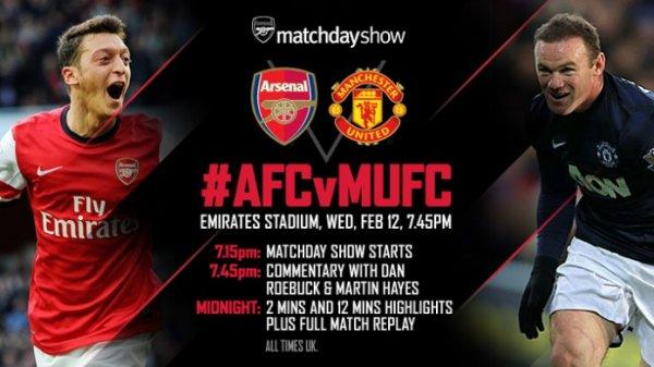 Premier League : 26ème journée : Arsenal FC - Manchester United  (12.02.14)