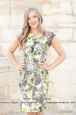 Johanna Claquin, 1ère dauphine de Miss Champagne-Ardenne 2016