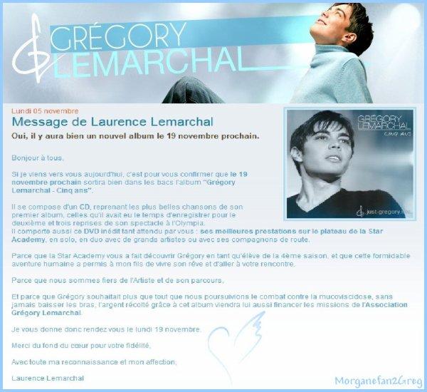 Message de Laurence