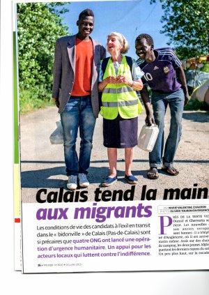 Pas de limite d'âge pour l'aide aux migrants... Mme Jeanne 90 ans !