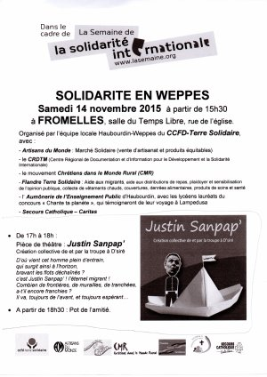 FTS participe à la semaine de la solidarité internationale