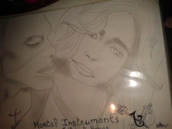 """dessin basé sur le film """" mortal instrument"""""""