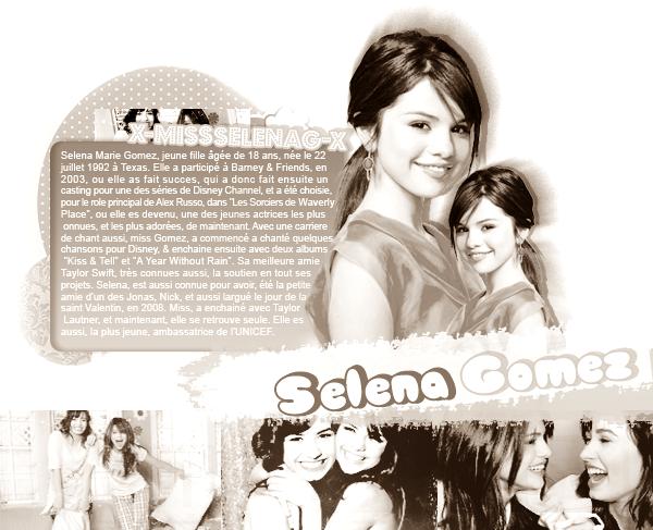 * Bienvenue sur x-MissSelenaG-x, ta source pour suivre tout le quotidien de Selena Gomez . *