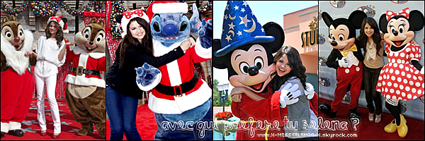 + November 7th  ;   Selena chantant au Disney Parks Christmas Day Parade & faisant un shoot.  +