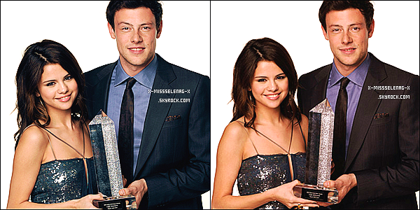 + December 12th  ;  S. à Hollywood Style Arwards avec Cory Monteith. +