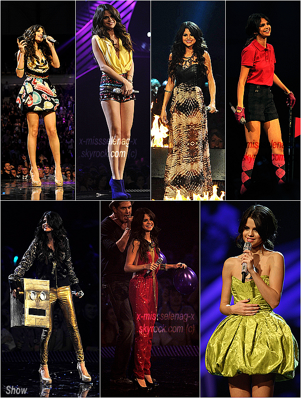 + November 6th  ;  Selena aux Europe Music Awards 2011 à Belfast (Irlande).+