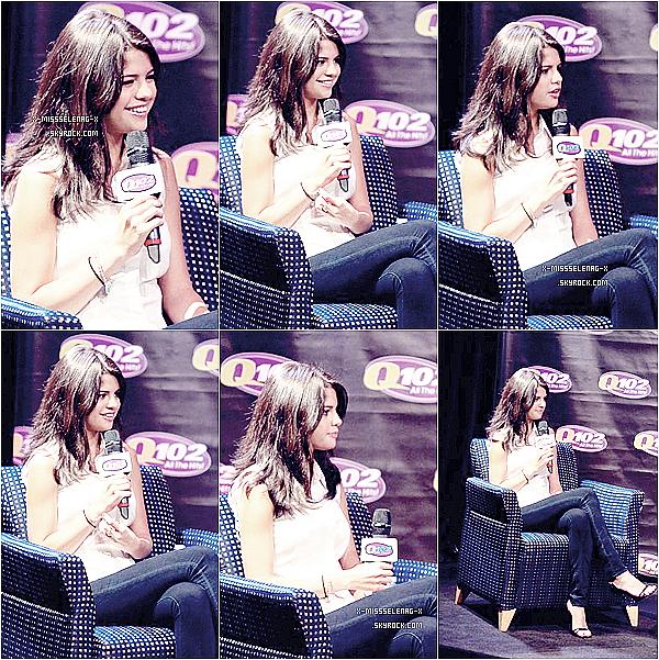 + June 21st  ;  Selena à la radio Q102, puis après à Monte Carlo Mall Tour à Miami.+