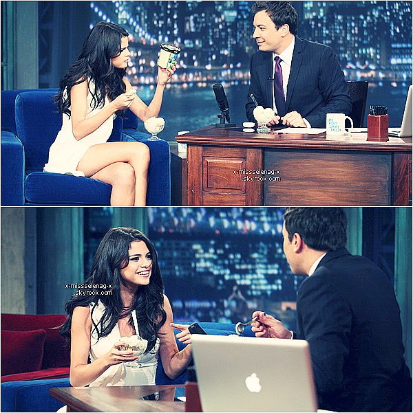 + June 23rd  ;  Selena à « Late Night With Jimmy Fallon ».+ Clique sur le gif de la performance, pour avoir accès à la video de Sel chantant Who Says. +