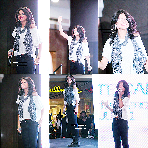 + June 27th  ;  Selena au Monte Carlo Mall Tour à Michigan.+ Le behind the scenes de Who Says. +