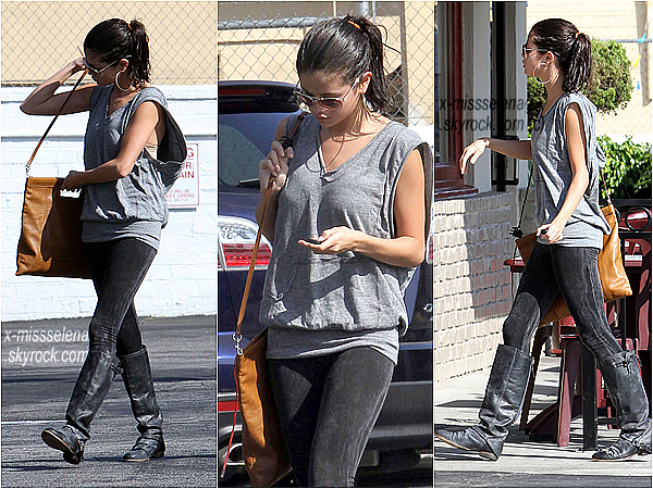 + September 29th  ;  Selena sortant d'un café à Los Angeles. (+) Selena a posté 7 photos sur Intagram, sur le tournage de Hit The Lights.  +