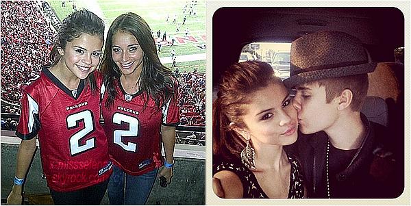 + September 18th  ;  Selly toujours accompagnée de Bieber sont allés voir les Falcons à Atlanta.+