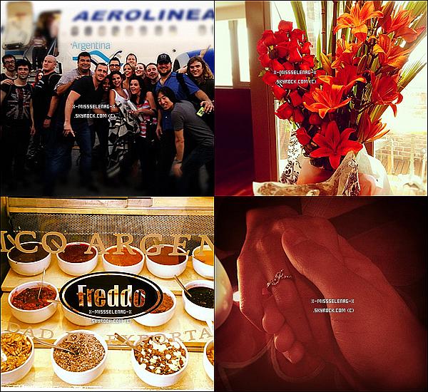 + February 6th  ;  Selena à l'aéroport de São Paulo au Brésil.(+) Nouvelles photos personnelles de Selena. +