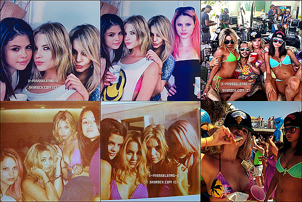 + March 28th  ;  Sel et Van sur le set de Spring Breakers à la plage St. Pete. (+) Pleins de photos personnelles de Selena et les filles sur le set de SB. +