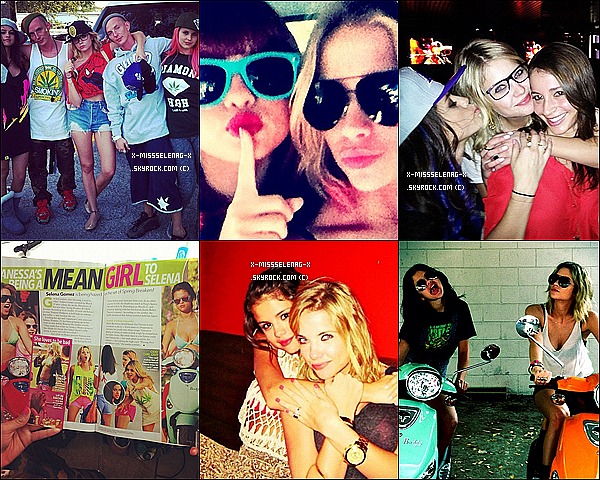 + April 6th  ;   Selena (qu'on voit à peine) et JB s'arrêtant à un drive-thru de Chick-fil-A à LA. (+) Regroupement de toutes les photos via Instagram durant le tournage de SB postées par Ashley Benson. +