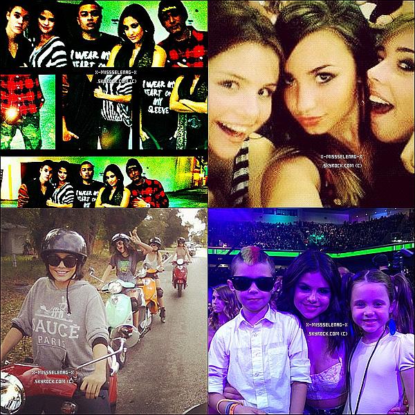 + Trois nouveaux clichés du photoshoot de Selena pour Cosmopolitan.  + Quatre photos diverses provenant d'Instagram, dont une de Spring Breakers, une avec Demi Lovato... +