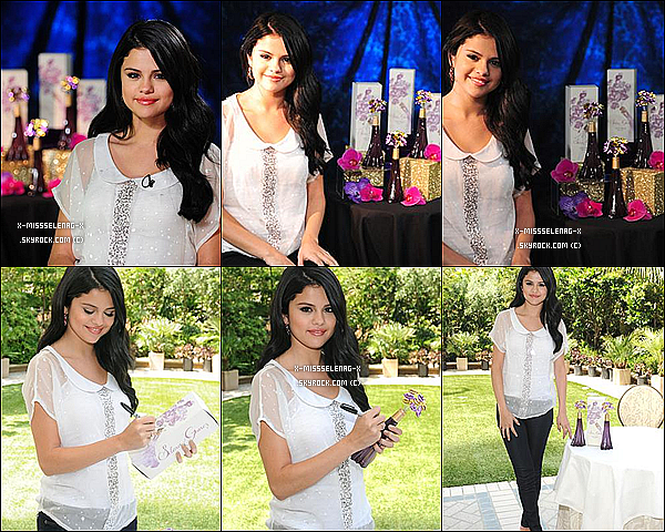 + April 19th  ;  Selena faisant la promotion de son Parfum à Los Angeles et à Young Hollywood.  +