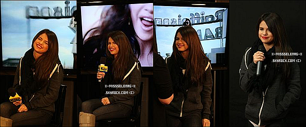 + December 9th  ;  Selena au KISS 108 Jingle Ball. +