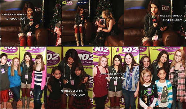 + December 8th  ;  Selena au Q102 Jingle Ball à Camdem, New Jersey. +