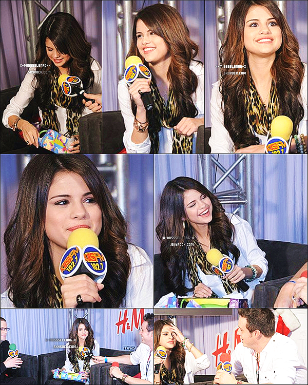 + December 5th  ;   Selena à la cérémonie Kiis FM Jingle Ball au Nokia Theater.  +