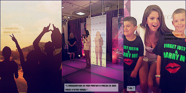 + June 9th  ;   Selena promouvant son parfum à Macy's à New York City. + Pleins de récentes photos personnelles de Selena via PostCard on The Run. +
