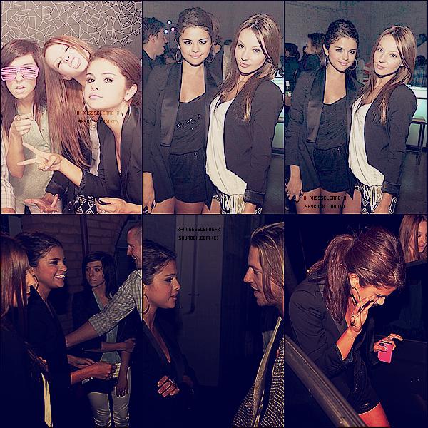"""+ June 14th  ;   Selena, Samantha et Christina Grimmie à l'inauguration de """"DS2DIO"""" à LA. + Bts de la pub pour Dream Out Loud pour l'automne 2012. +"""