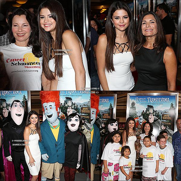 + September 22nd  ;   Selena à la première de «Hôtel Transylvanie» à Los Angeles.+
