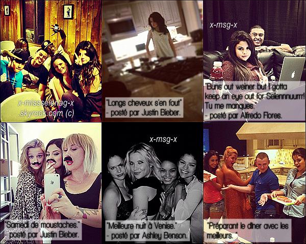 + October 18th  ;   Selena a été vue sortant de l'hôpital «Steven Spielberg» à Beverly Hills (CA). + Rattrapage des photos personnelles de Selena postées par plusieurs personnes différentes (dont Justin) via Instagram. +