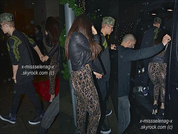 + December 2nd  ;   Jelena ont été vus sortir d'un restaurant «WolfGang's Steakhouse» à LA. + Découvre des nouvelles photos personnelles de Selena via Instagram postées par des différentes personnes. +