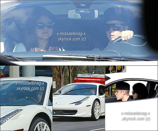 + December 3rd  ;   S. allant au «Jack In The Box» & elle a été vue se rendant chez Justin. +