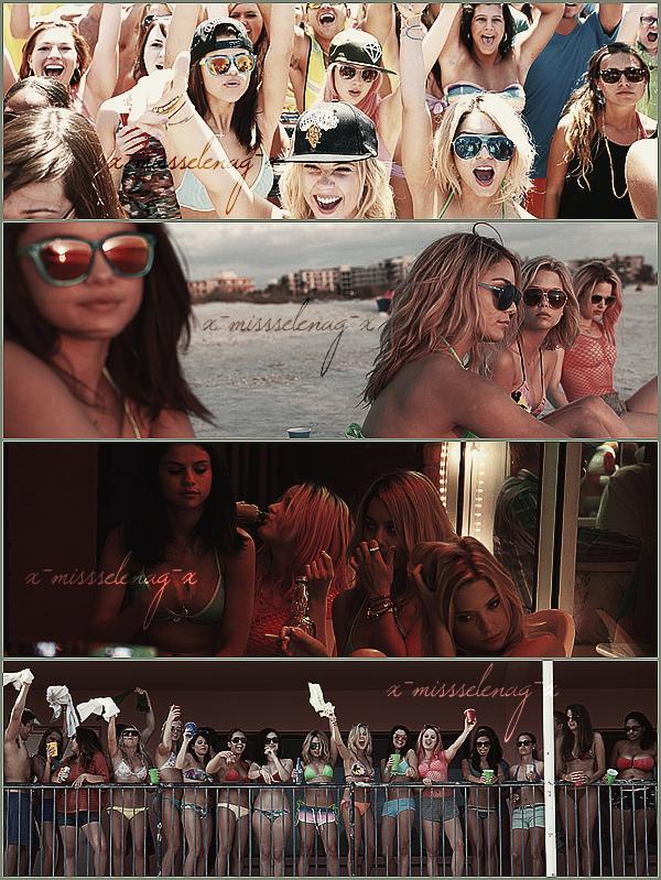 + January 6th  ;   Selena a été vue débarquant à l'aéroport de LAX. + Découvre de nouveaux stills, posters et photos promotionnelles pour Spring Breakers. +