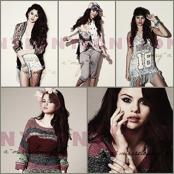 + January 10th  ;   Selena est allée au 'Alberta Ferretti And Vogue Fashion Show'. + Découvre la couverture ainsi que le shoot de Selena pour le magazine 'Nylon' de Février 2013. +