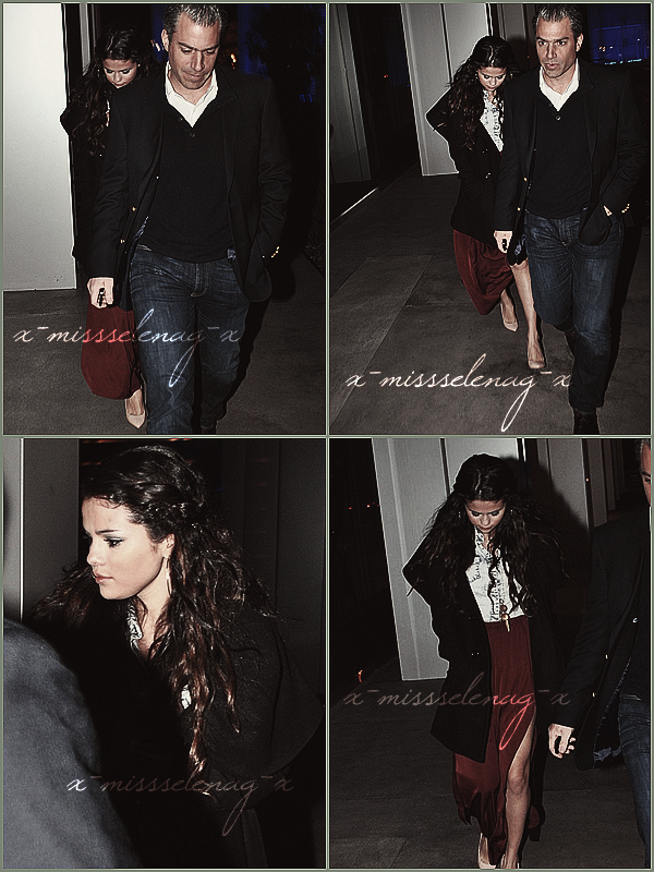 + January 11th  ;   Selena a été vue arrivant au restaurant 'BOA Steakhouse' en Californie. + Découvre pleins de nouvelles photos pour Spring Breakers (posters, promoshoot, stills) et les bandes-annonce. +