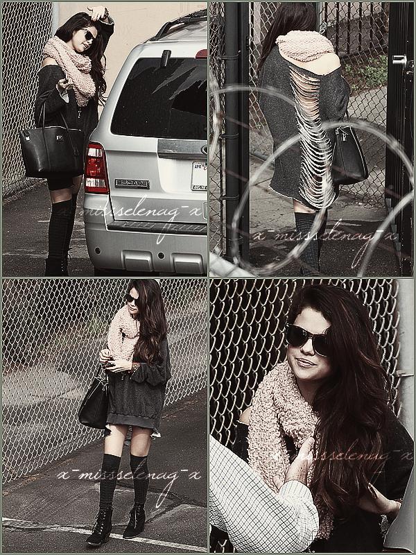 + February 8th  ;   Selena a été vue arrivant au studio à Burbank, LA. + Découvre pleins de vidéos pour Spring Breakers (BA, BTS, Spots) et quelques photos. +