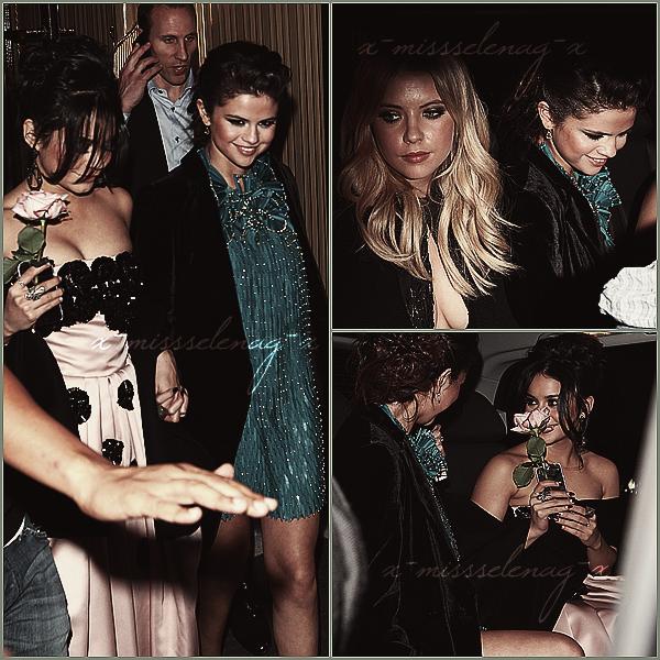 + February 18th  ;   Selena et les filles arrivant aux studios NRJ pour l'émission 'Bienvenue chez Cauet' et quittant studios après. Dans la soirée, elles se sont rendues à l'avant-première de «Spring Breakers» avec Harmony. Elles ont été aussi vues quittant le lieu, dans notre capitale. +
