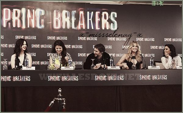 + February 21st  ;   Selena et Vanessa à l'émission «El Hormiguero 3.0». Plus tard, le cast à une conférence de presse pour SB. Et le soir, les filles étaient à l'avant-première de SB à Madrid. +
