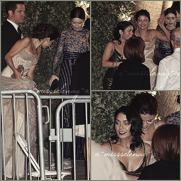 + February 24th  ;   Selena et Vanessa au «Vanity Fair Oscar Party» et quittant le lieu avec Lily. +