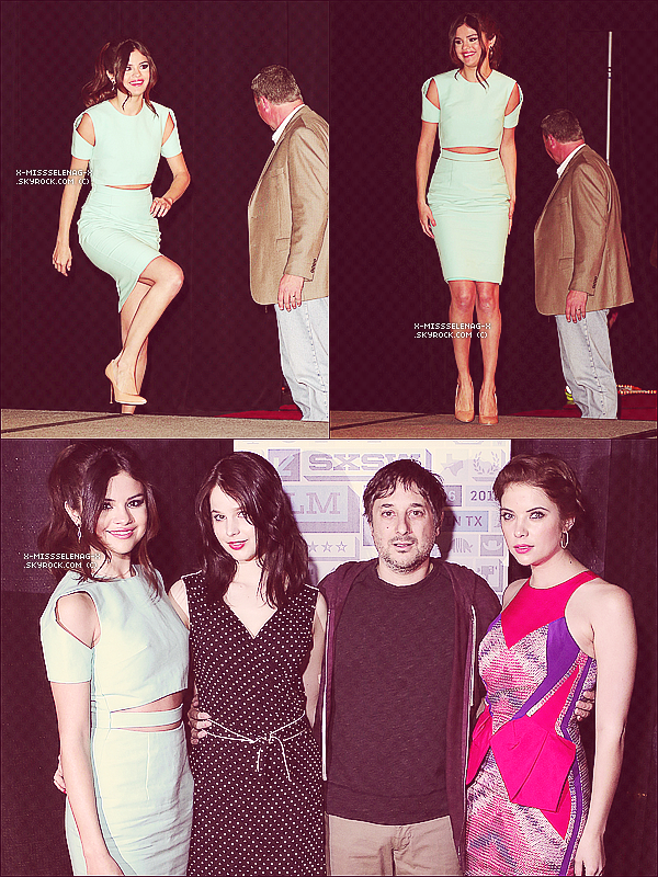 + March 11th  ;   Selly au SXSW Film Festival pour la conférence de presse de Spring Breakers. +