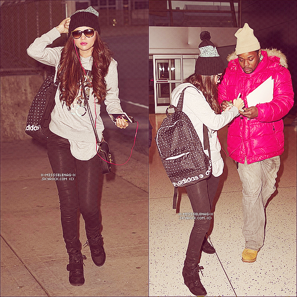 + March 19th  ;   S. à l'émission «Late Night with Jimmy Fallon» & embarquant à l'aéroport de NY. +