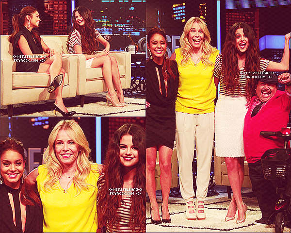 + March 21st  ;   Selena et Vanessa sur le plateau de «Chelsea Lately». +