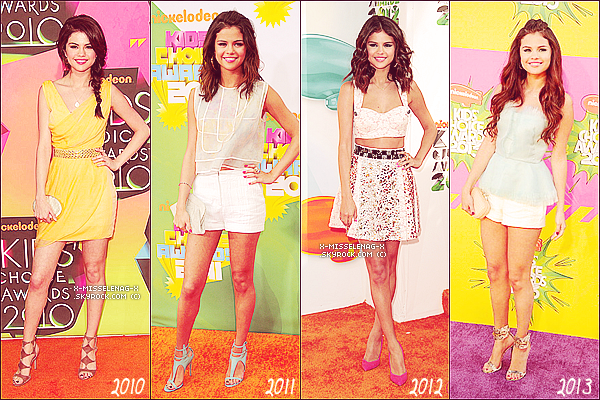 "+ March 23rd  ;   Selena aux ""Kids Choice Awards 2013"". +"