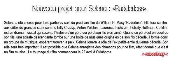 + April 8th  ;   Selena a été vue William H. Macy (réalisateur) à Sherman Oaks. + Voici de nouvelles photos personnelles ainsi qu'encore des interviews pour la promo de CAGI. +