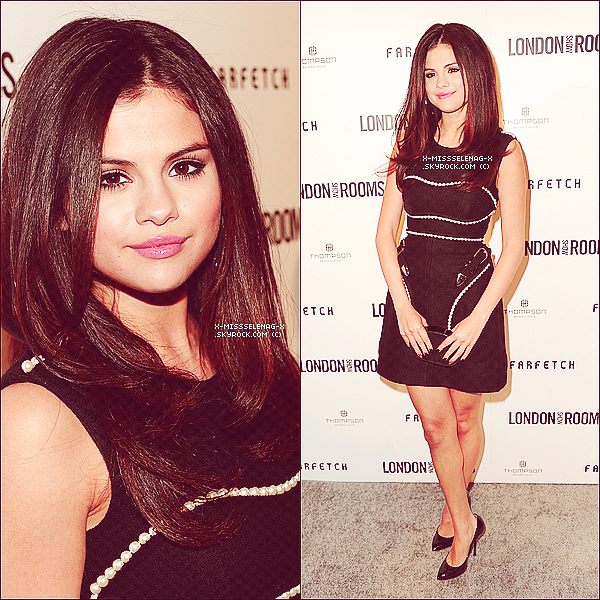 "+ April 9th  ;   S. dans Calabasas & soir au British Fashion Council's ""London Show Rooms LA"". +"