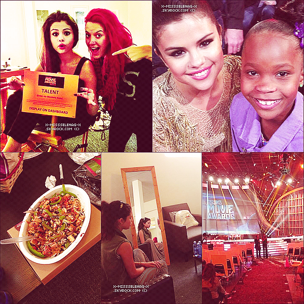 + April 14th  ;   Selena aux «MTV Movie Awards» où elle a performé CAGI. +